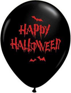 "11"" / 28cm Haunted Halloween Bats Qualatex #32044-1"