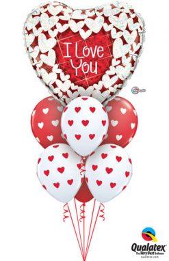Bukiet 717 Glittering Hearts Valentine Deluxe #34813 76928-6