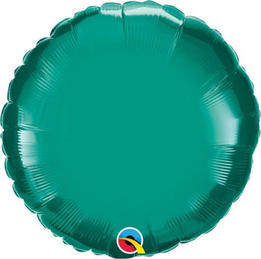 18″ / 46cm Solid Colour Round Teal Qualatex #32554