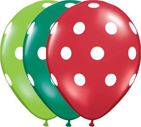"11"" / 28cm Big Polka Dots Qualatex #33231-1"