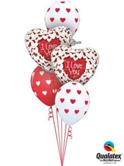 Bukiet 682 Glittering Hearts Valentine #34813-2 76928-3