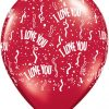 "5"" / 13cm I Love You A Round Qualatex #39511-1"