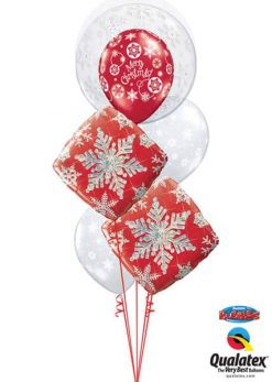 Bukiet 618 Winter Wonderland Snowflakes Qualatex #52005 40093-2 40560 40574-2