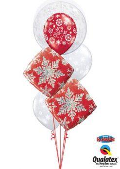 Bukiet 618 Winter Wonderland Snowflakes Qualatex #52005 40093-2 40560 40574-2