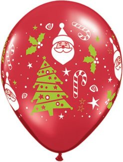 """11"""" / 28cm Santa & Christmas Tree Qualatex #40571-1"""