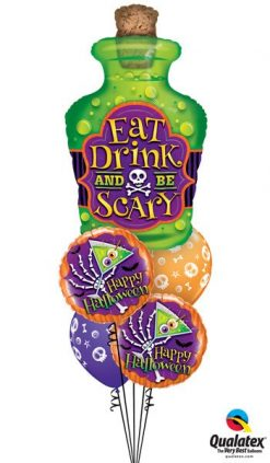 Bukiet 360 Eat Drink And Be Scary Qualatex #44201 43464-2 46510-2