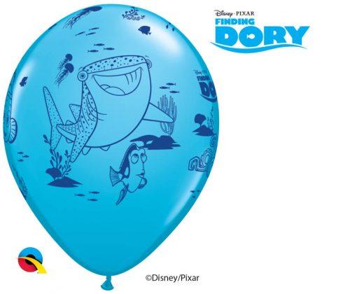 "12"" / 30cm 6szt Disney•Pixar Dory & Friends Asst of Yellow, Orange, Robin's Egg Blue Qualatex #45534"