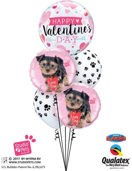 Bukiet 696 Puppy Paw Print Valentine #46048 55232-2 76892-2