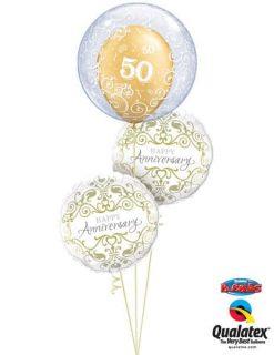 Bukiet 650 50th Anniversary Filigree Qualatex #13693 36491-2 37107