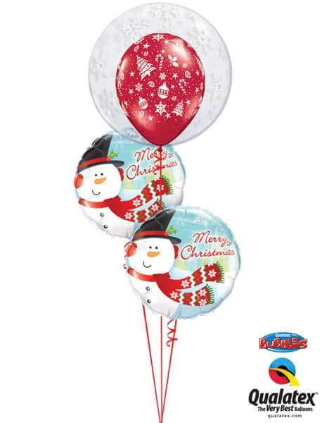 Bukiet 611 Winter Wonderland Snowmen Qualatex #52005 18867-2 40559