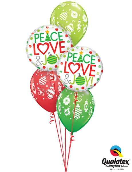 Bukiet 614 Peace, Love, & Christmas Joy Qualatex #52099-2 53428-3