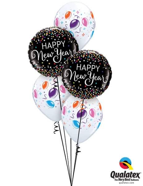 Bukiet 640 New Year's Confetti Streamers Qualatex #52891-2 37503-3