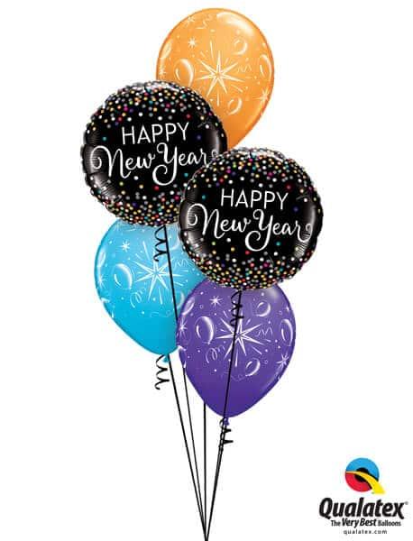 Bukiet 638 New Year's Confetti Sparkles Qualatex #52891-2 39088-3
