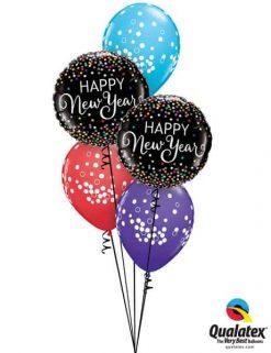 Bukiet 636 Confetti New Year Qualatex #52891 52964-6