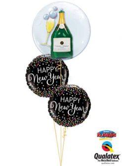 Bukiet 635 Pop the Bubbly New Year Qualatex #68810 52891-2