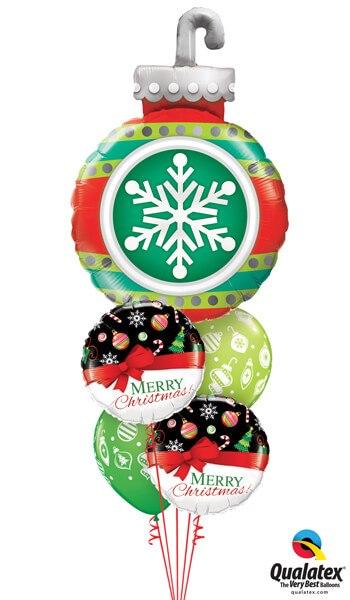 Bukiet 599 Very Merry Christmas Qualatex #52940 52210-2 53428-2