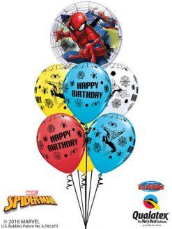 Bukiet 626 Spiderman Birthday Bubble Qualatex #54052 18672-6