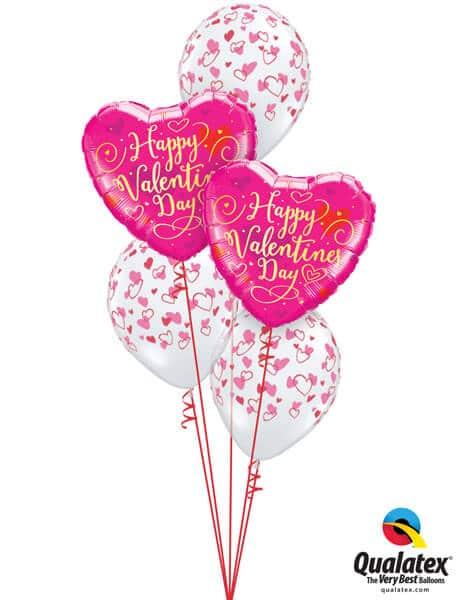 Bukiet 703 Gold Script Valentine Hearts #54838-2 38433-3