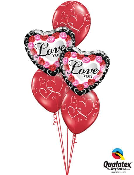 Bukiet 685 Romantic Pink & Red Roses Valentine Frame #54858-2 40311-3