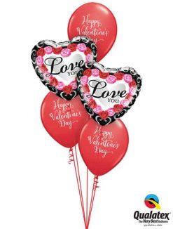 Bukiet 686 Pink & Red Roses Valentine Frame #54858-2 46063-3