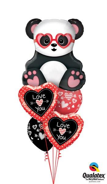 """Bukiet 670 """"Love You"""" Panda Bear #54882 54850-2 55247-2"""