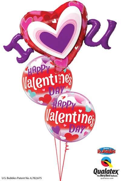 Bukiet 709 I (Heart) U Valentine Bubbles #54894 54603-2