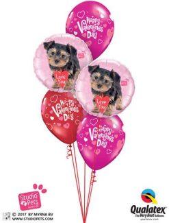 Bukiet 674 Happy Valentine's Puppy #55232-2 40309-3