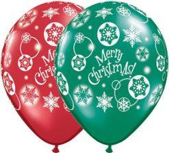 """11"""" / 28cm Christmas! Snowflakes Qualatex #60132-1"""