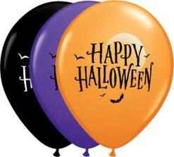 """11"""" / 28cm Halloween Moon & Bats Qualatex #60152-1"""