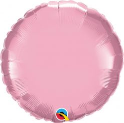 18″ / 46cm Solid Colour Round Pearl Pink Qualatex #60678