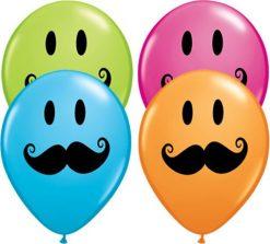 "5"" / 13cm Smile Face Mustache Qualatex #60933-1"