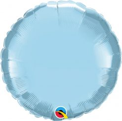 18″ / 46cm Solid Colour Round Pearl Light Blue Qualatex #63745