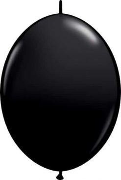 "12"" / 30cm Onyx Black Qualatex Quick Link #65216-1"