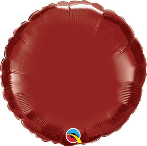 18″ / 46cm Solid Colour Round Burgundy Qualatex #74917