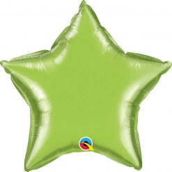 20″ / 51cm Solid Colour Star Lime Green Qualatex #76231