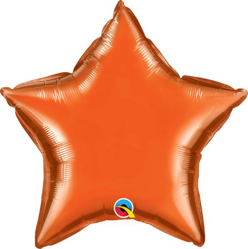 20″ / 51cm Solid Colour Star Orange Qualatex #86966