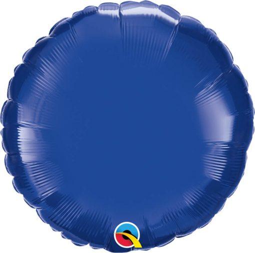 18″ / 46cm Solid Colour Round Dark Blue Qualatex #87141