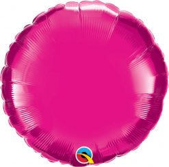 18″ / 46cm Solid Colour Round Magenta Qualatex #99336
