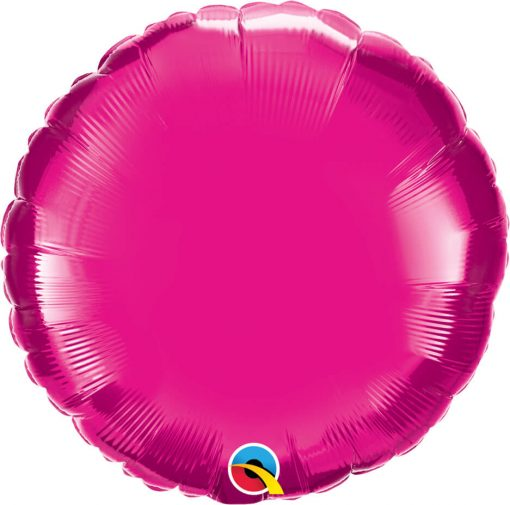 18″ / 46cm Solid Colour Round Magenta Qualatex #99336