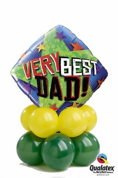 Bukiet 389 Very Best Dad Stars Qualatex #40549 43567-8