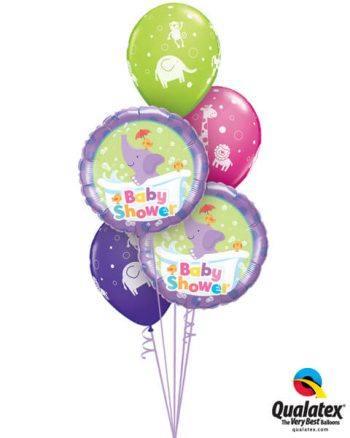 Bukiet 653 Baby Shower Jungle Qualatex #13912-2 40200-3