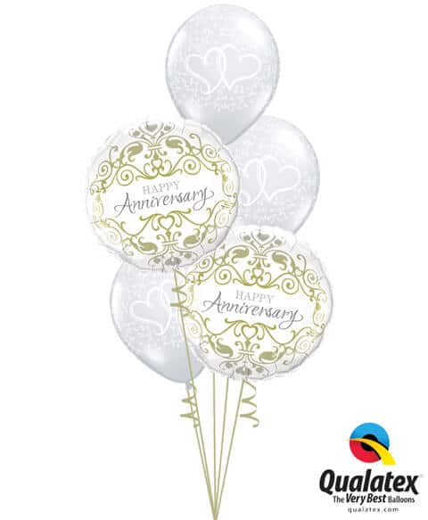 Bukiet 655 Classic Anniversary Arrangement Qualatex #36491-2 37200-3