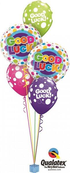 Bukiet 412 Good Luck Colourful Dots Qualatex #36387-2 36977-3