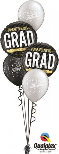 Bukiet 410 Congratulations Grad Stripes Qualatex #12330-2 43151-3