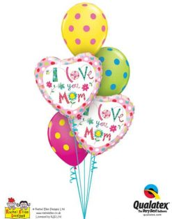 Bukiet 665 I Love You Mom Hearts #78282-2 10240-3