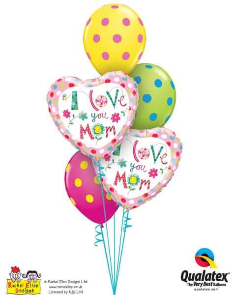 Bukiet 665 I Love You Mom Hearts #78282-2 10240-3