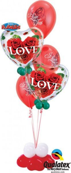Bukiet 117 Love Roses Qualatex #33878-2 23400-3 43607-4 43599-4
