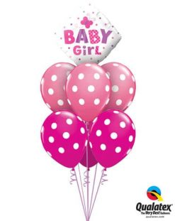 Bukiet 648 New Baby Girl Butterfly Qualatex #14659 37222-3 37225-3