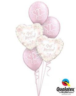 Bukiet 646 Pearl Pink Wedding Qualatex #31082-2 43783-3 37200-3