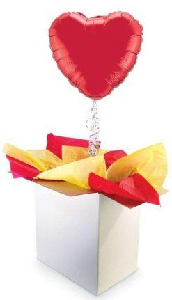 """18"""" / 46cm Poczta Balonowa Premium Love z Balonem Foliowym"""